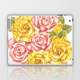 Pretty Watercolor Flowers Laptop & iPad Skin