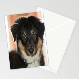 Australian Shepherd Puppy - Mojo Stationery Cards
