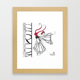 Katharina- Lady butterfly Framed Art Print