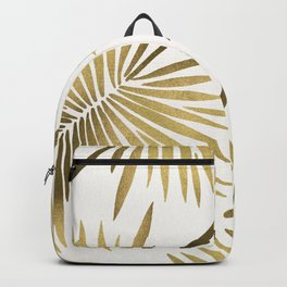 Tropical Fan Palm – Gold Palette Backpack