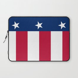 Texan state flag - high quality vertical authentic Version  Laptop Sleeve