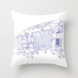bonney drawing blue Throw Pillow