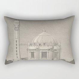 Otto Wagner - Modernist Church Architecture (1898) - Parish Church Währing Side View Rectangular Pillow