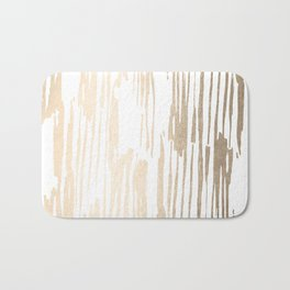 White Gold Sands Thin Bamboo Stripes Bath Mat