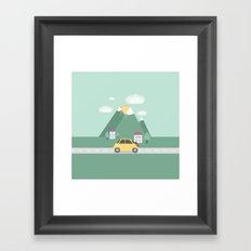 Little Yellow Car Framed Art Print