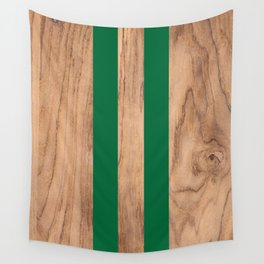 Wood Grain Stripes - Green #319 Wall Tapestry
