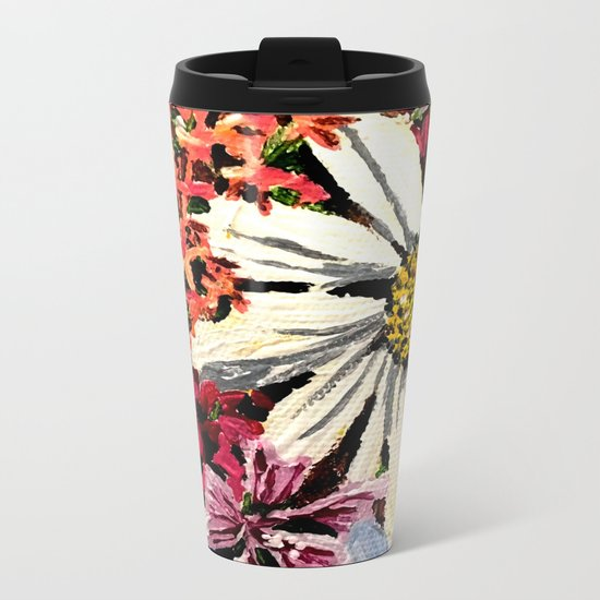 Flower Dreams Metal Travel Mug