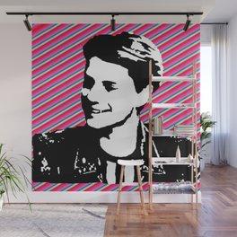jace norman print art pink stripe Wall Mural
