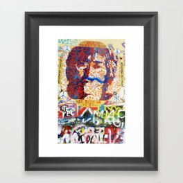 Peace on Earth - Love - Because the World is Round it Turns me On Framed Art Print