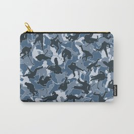 Ice Hockey Player Camo URBAN BLUE Carry-All Pouch