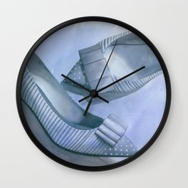 Dots And Dashes Wall Clock