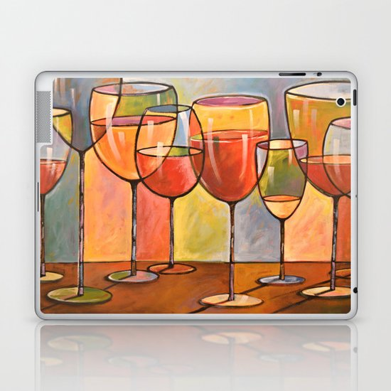 Whites and Reds ... abstract wine art Laptop & iPad Skin