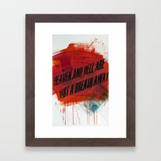 HEAVEN&HELL2 Framed Art Print