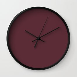 Pantone 19-1725 Tawny Port Wall Clock
