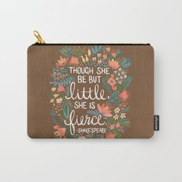 Little & Fierce on Kraft Carry-All Pouch