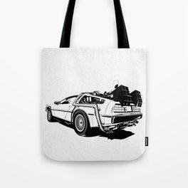 DeLorean / BW Tote Bag