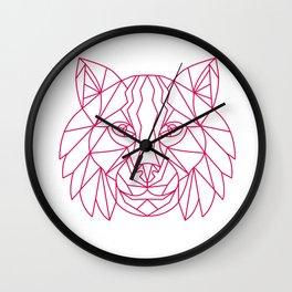 Lynx Bobcat Head Mono Line Wall Clock
