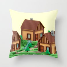 voxel hamlet Throw Pillow