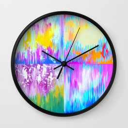 Abstract Art With Loads of Spirit Wall Clock