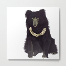 Whipped Cream Sloth Bear Metal Print