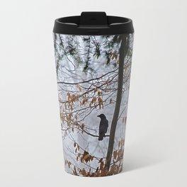 Crow in the mist Travel Mug