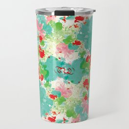 Abstract Watercolor Travel Mug