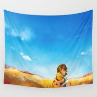 alicexz Wall Tapestries featuring Everything is Right by Alice X. Zhang