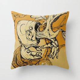 Wood Vomit.. Throw Pillow