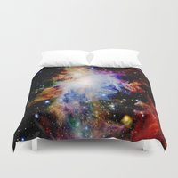 galaxy Duvet Covers featuring GaLaXY : Orion Nebula Dark & Colorful by Galaxy Dreams