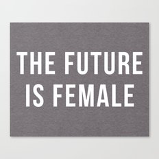 Future Is Female Quote Canvas Print