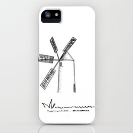 mill on white background iPhone Case
