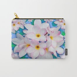Plumeria Bouquet Exotic Summer Pattern Carry-All Pouch