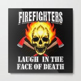 Fearless Firefighters Metal Print