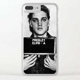 Elvis Presley Mug Shot Vertical 1 Clear iPhone Case