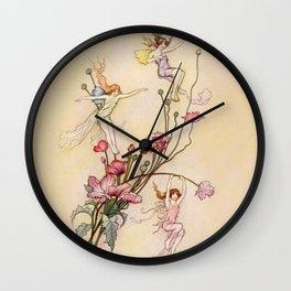 """Three Spirits Mad With Joy"" Art by Warwick Goble Wall Clock"