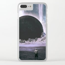 Stare Into An Abyss Clear iPhone Case