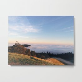 Fog Rolling in over the Mountain Metal Print