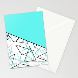 Abstract turquoise combo pattern . Stationery Cards