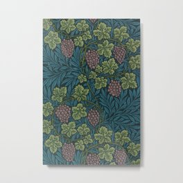 William Morris Grape Vine Pattern Metal Print