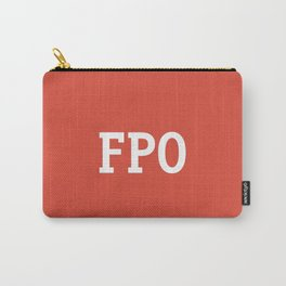 For Placement Only - FPO - Artwork (Google Plus Red) Carry-All Pouch