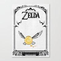 the legend of zelda Canvas Prints featuring Zelda legend - Navi by Art & Be