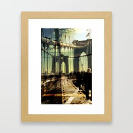 to the other side of Brooklyn Bridge Framed Art Print