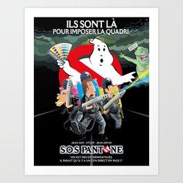 SOS Pantone Art Print