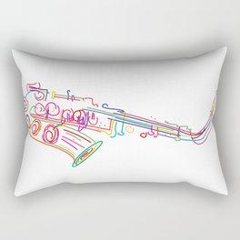 Stylized  saxophone Rectangular Pillow