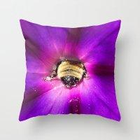 butt Throw Pillows featuring Bee Butt by Nature In Art...