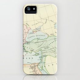Old Map of The Roman Empire iPhone Case