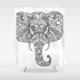 Ella the Elephant Shower Curtain