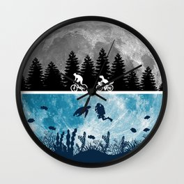 Close Encounters of the Moon Wall Clock