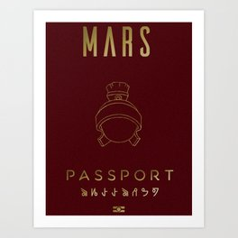 MARS-Passport Art Print