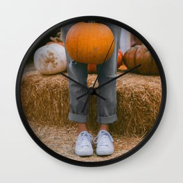 Her Pumpkin (Color) Wall Clock